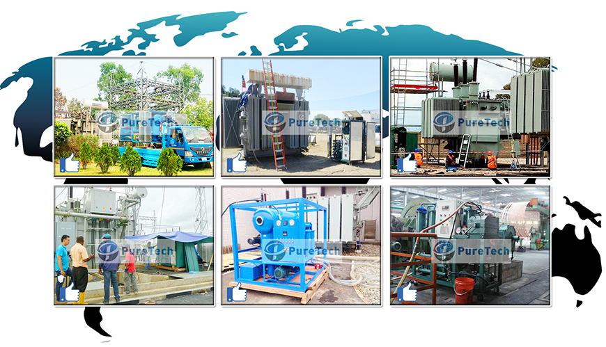 puretech provides oil filtration machines to many countries and districts in the world, <a href=https://www.cqpuretech.com/High-Vacuum-Transformer-Oil-Filtration-Machine-p.html target='_blank'>Transformer Oil Filtration Machine</a>,turbine oil filtration machine,<a href=https://www.cqpuretech.com/HOP-Hydraulic-Oil-Purifier-p.html target='_blank'>Hydraulic Oil Filtration</a> machine,gear oil filtration machine, etc.
