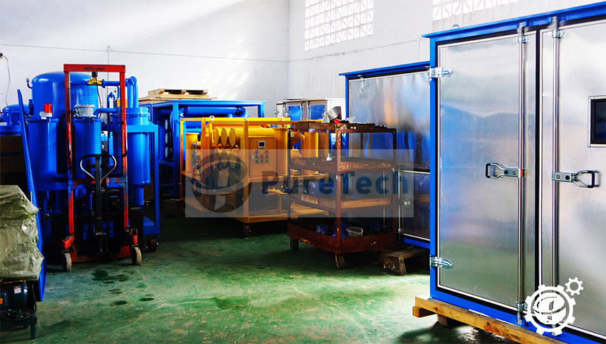 puretech is a leading factory of oil treatment plant, oil purification systems,oil filtration machine