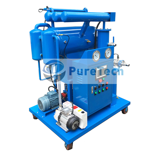 Single Stage Vacuum Transformer Oil Purifier for Low Voltage Transformers