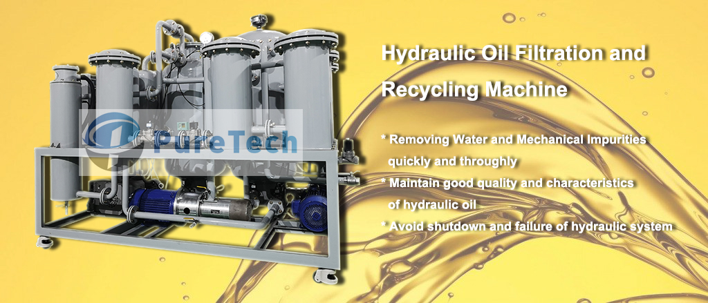 hydraulic oil filtration and recycling machine