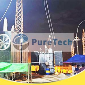 6000LPH Enclosed Insulating Oil Dehydration Machine in Asian Substation