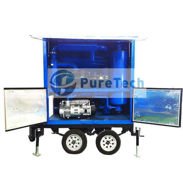 Trailer Mounted High Vacuum Transformer Oil Purifier